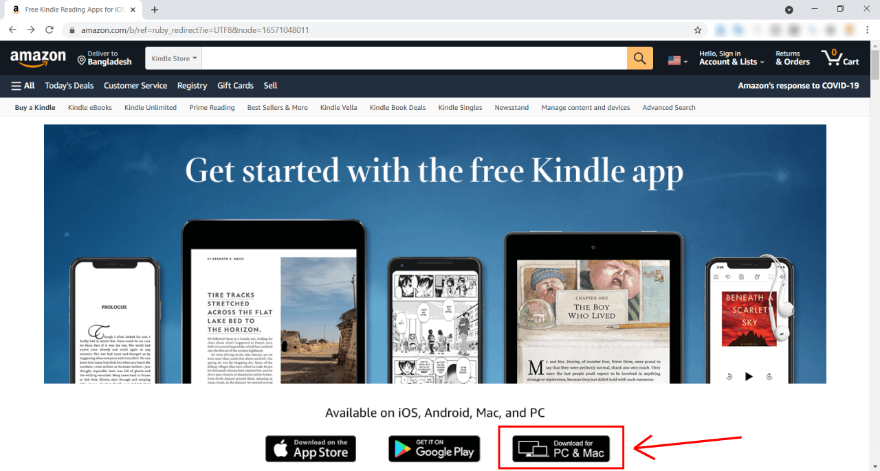 Kindle For Mac download button